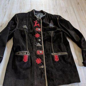 Vintage Vera Pelle Women's Coat Jacket Reindeer Na